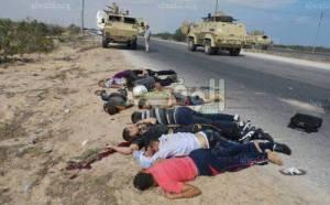 صور من مذبحة رفح 2 التي استشهد فيها 25 جنديا